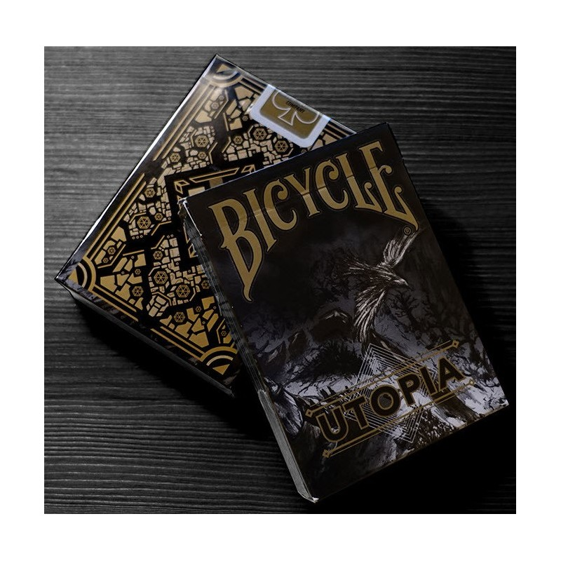 Bicycle Utopia (Black Gold) playing cards