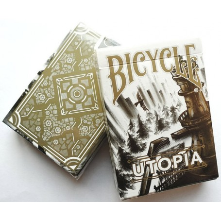 Bicycle Utopia (Gold) playing cards