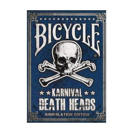 Bicycle Karnival Death Heads - Rare Blue Edition