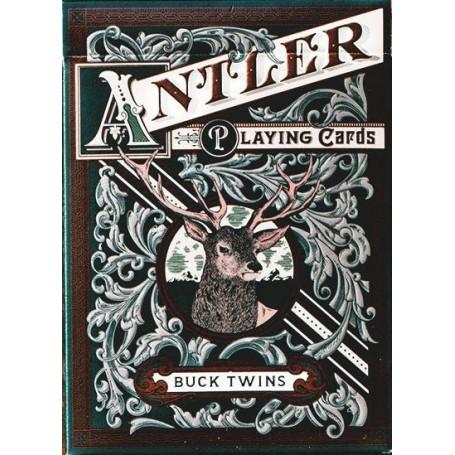 USPCC Antler Playing Cards - Hunter Green