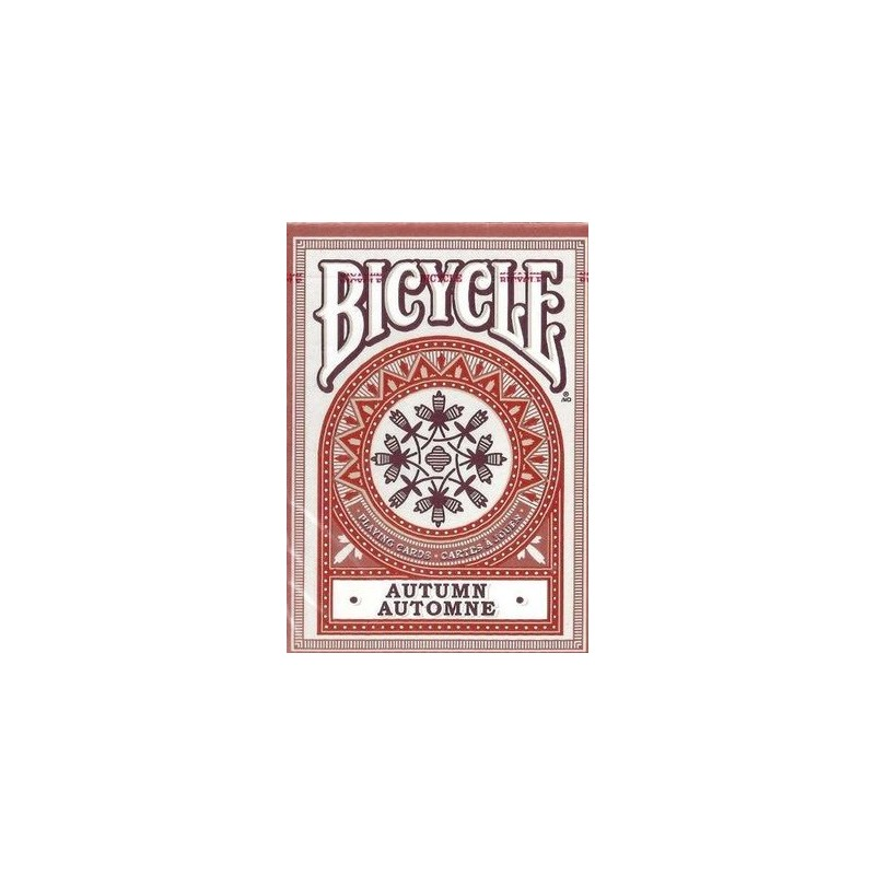 Autumn playing cards (red)