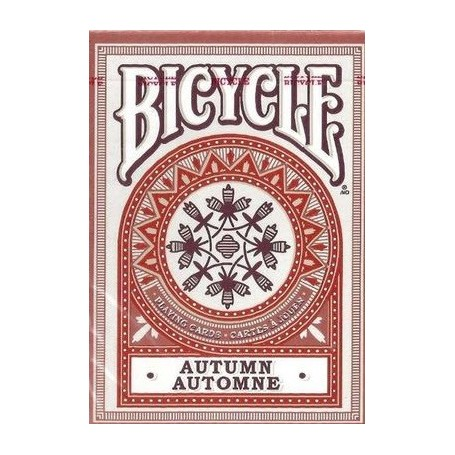 Bicycle Autumn playing cards (red)