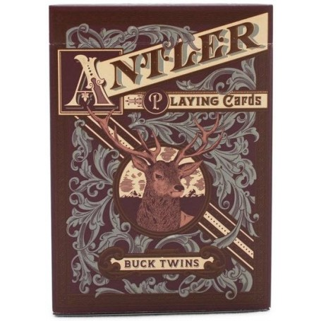 Antler Playing Cards - Deep Maroon