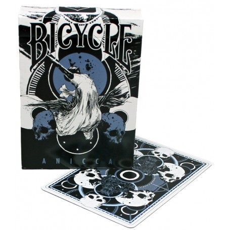 Anicca Metallic Blue playing cards
