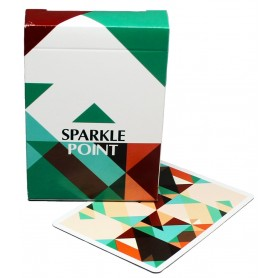 USPCC Sparkle Point (Green) playing cards