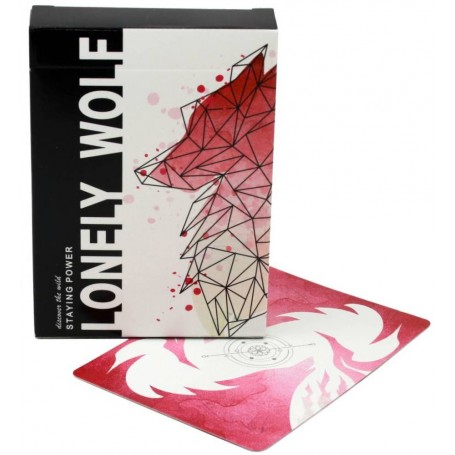 Lonely Wolf (Pink) playing cards