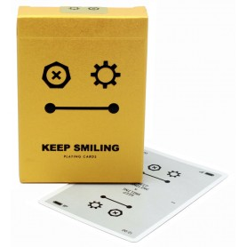 Keep Smiling Pearl Gold V2 playing cards