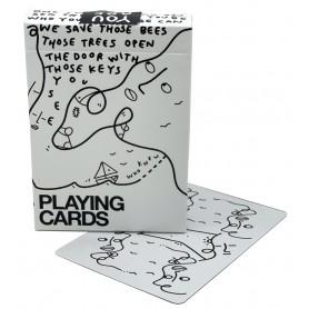 Shantell Martin (white) playing cards