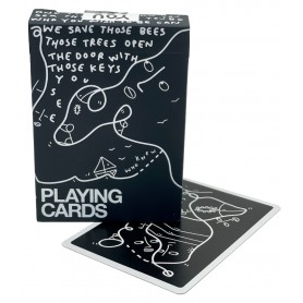 Shantell Martin (black) playing cards